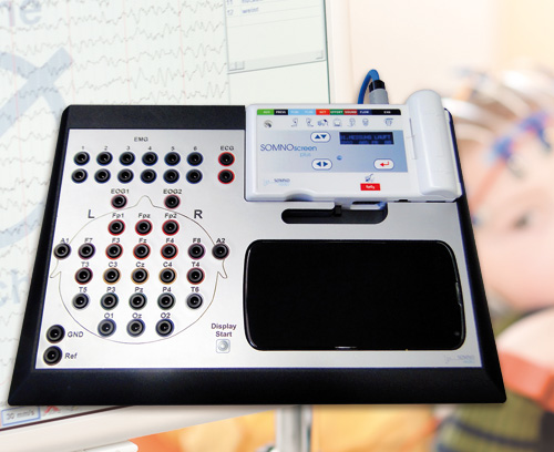Stationary system for long-term EEG recordings